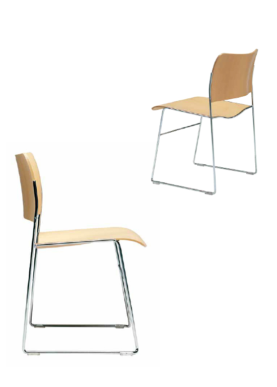 40/4 side chair ホワイトバック