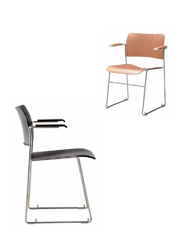 40/4 armchair ホワイトバック