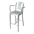 NAVY BAR STOOL WITH ARMS バナー