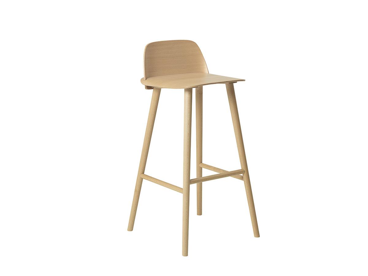 muuto nerd bar stool ホワイトバック 画像